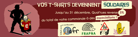 dons associations t shirts solidaires