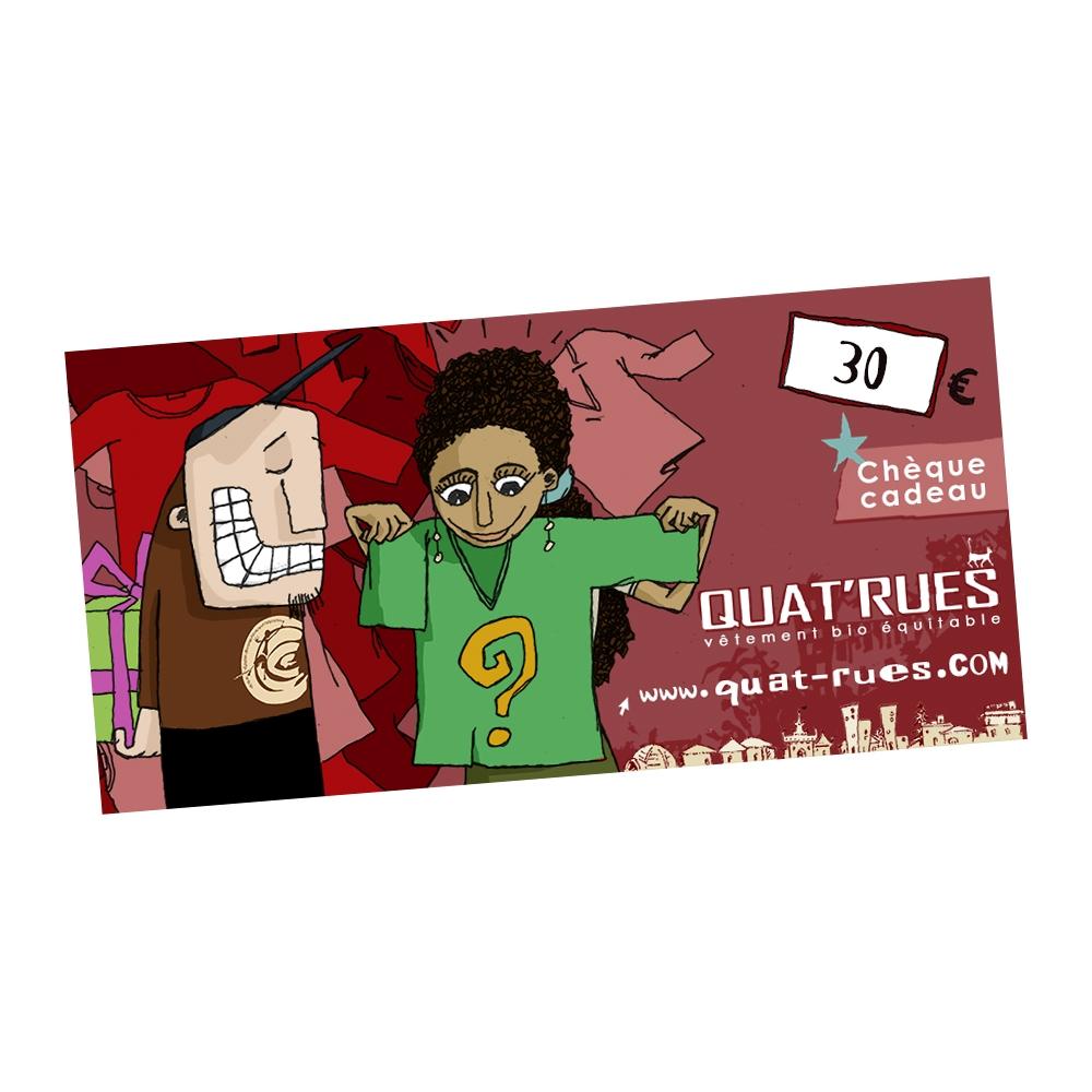 Quatrues Gift Voucher Value 30 Euros