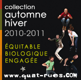 banniere collection H2010 t shirt bio ethique QuatRues