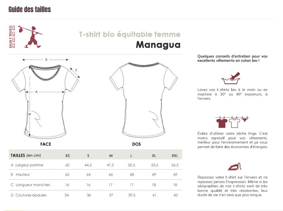 Guide des tailles Managua