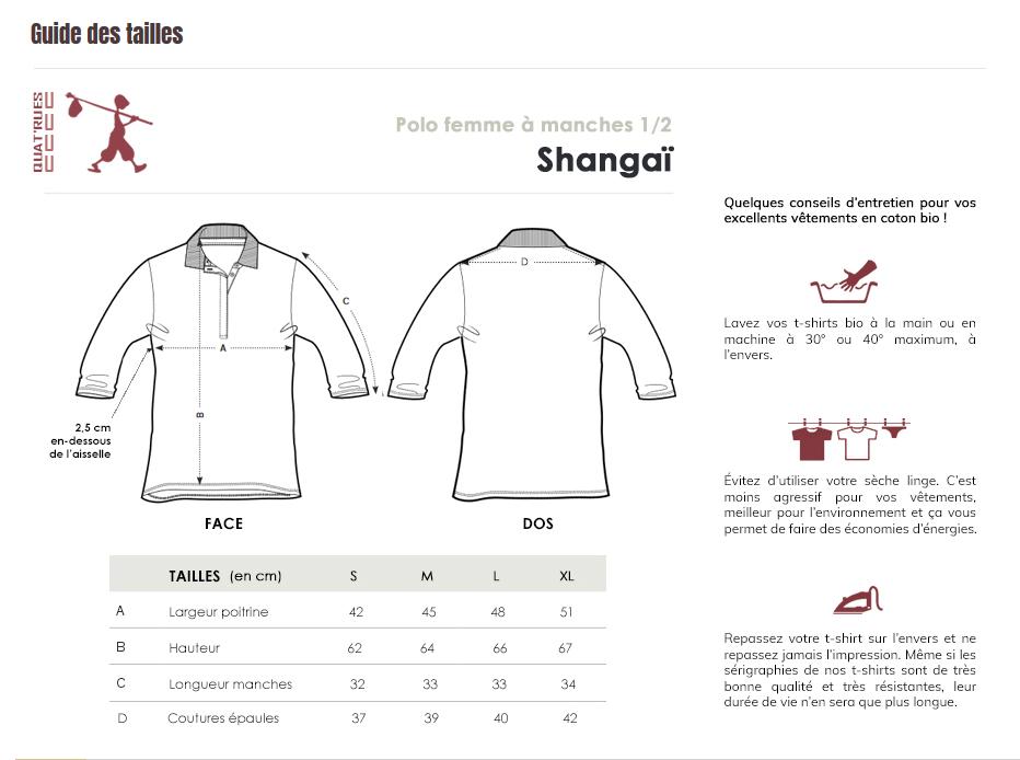 Guide des tailles Shangai