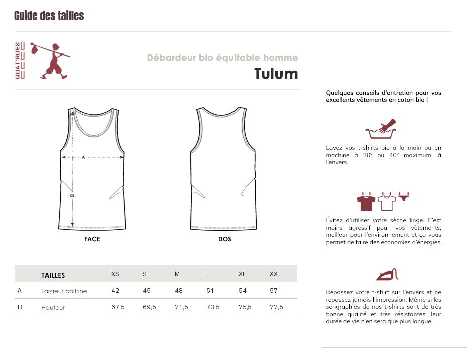 Guide des tailles Tulum