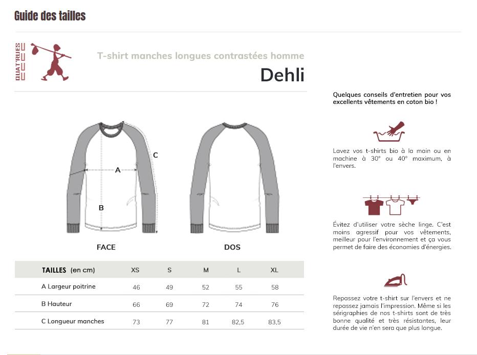 Correspondance de taille Delhi