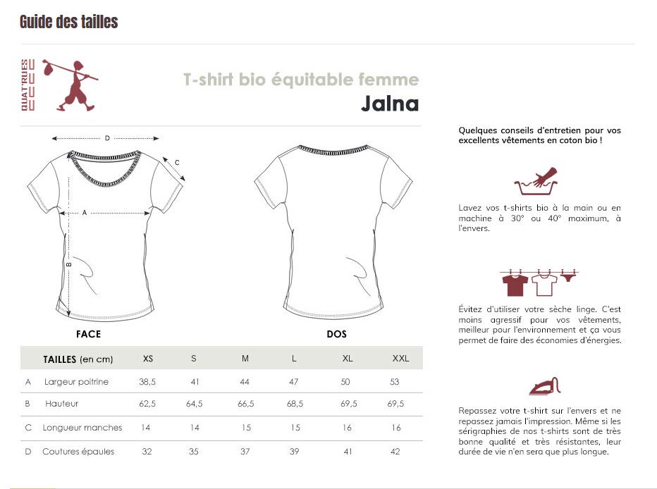 Size guide Jalna