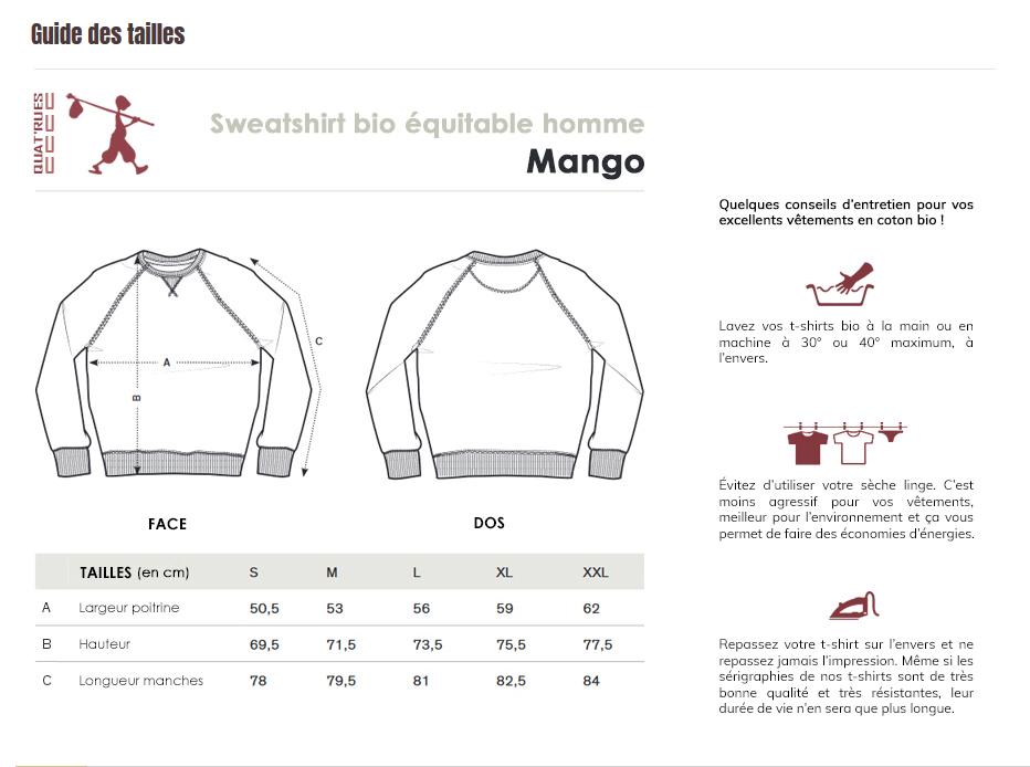 Guide des tailles Mango