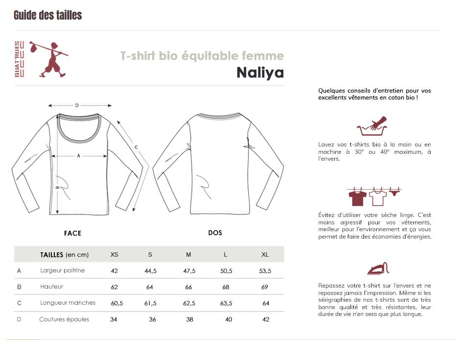 Guide des tailles Naliya