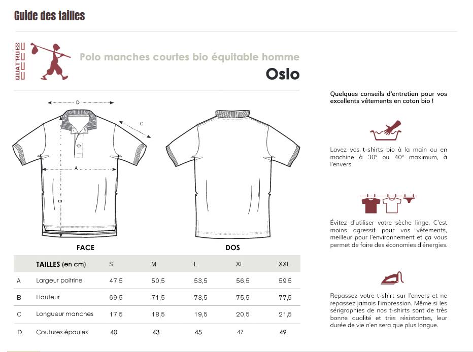 Guide des tailles Oslo