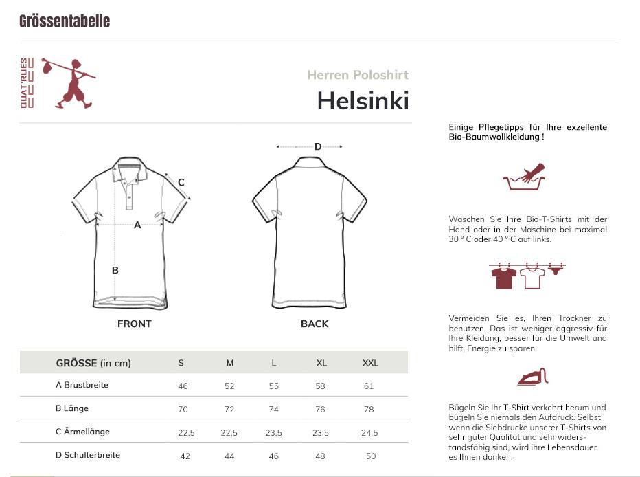 Größentabelle Helsinki