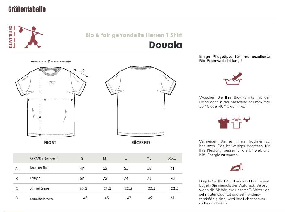 Größentabelle Douala