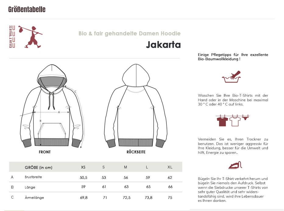 Größentabelle Jakarta