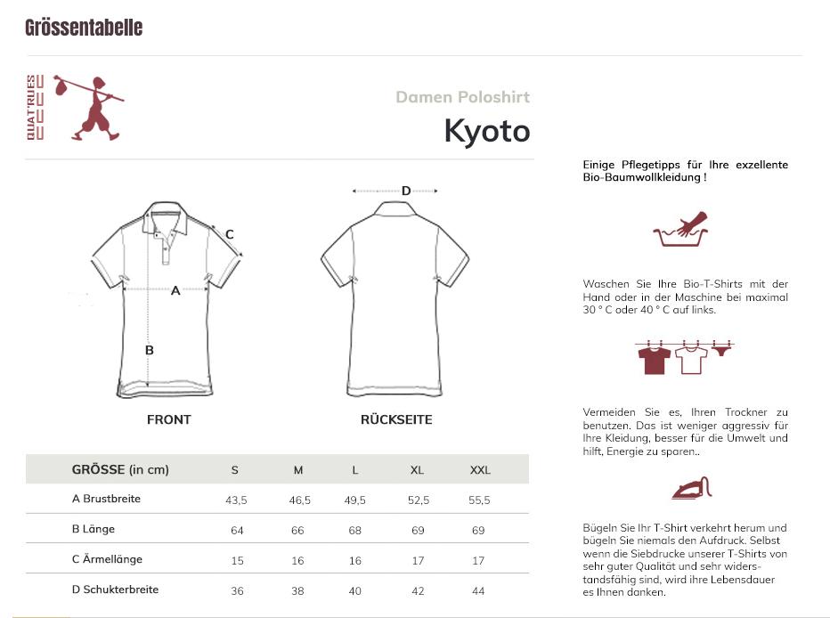 Größentabelle Kyoto