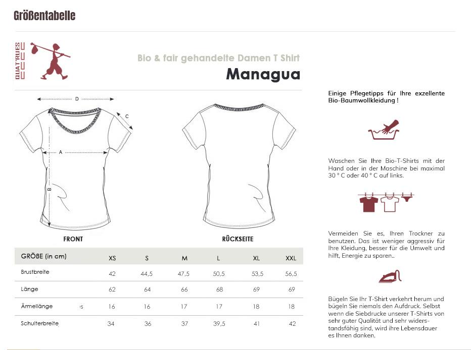Größentabelle Managua
