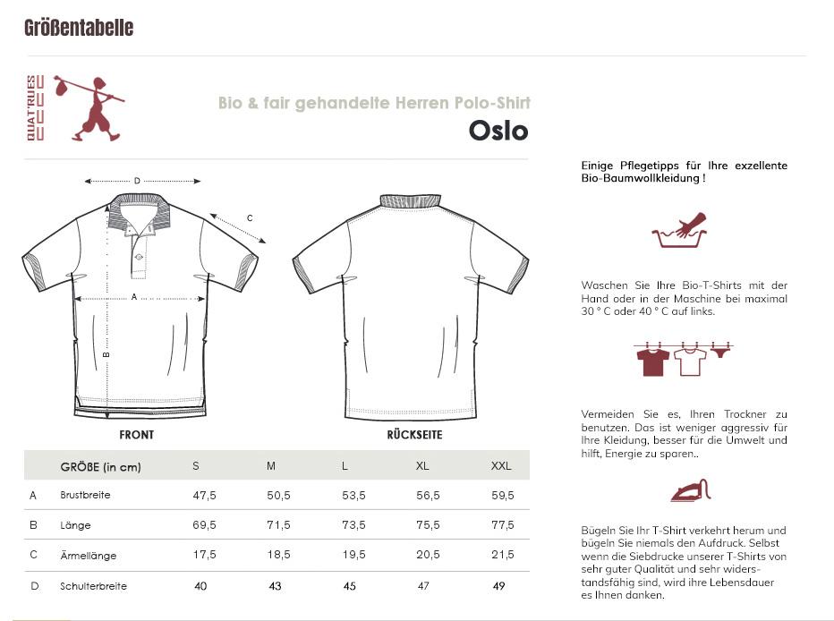 Größentabelle Oslo