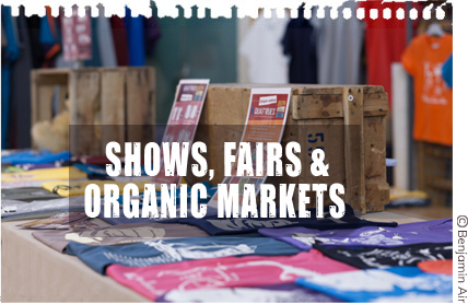 Where to find us in shows, fairs and organic markets