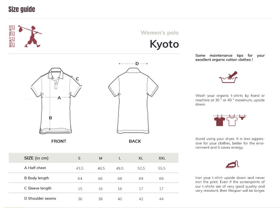 Size guide Kyoto