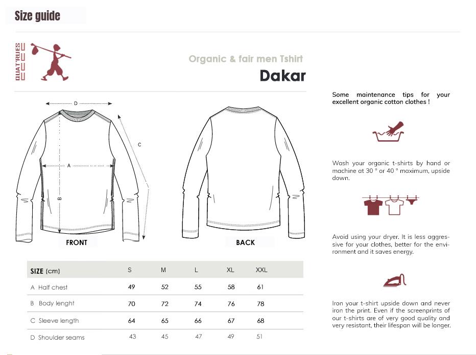 Size guide Dakar