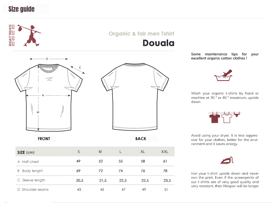 Size guide Douala