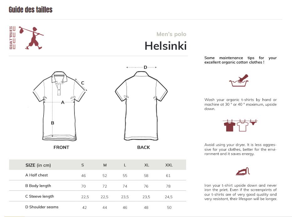 Size guide Helsinki
