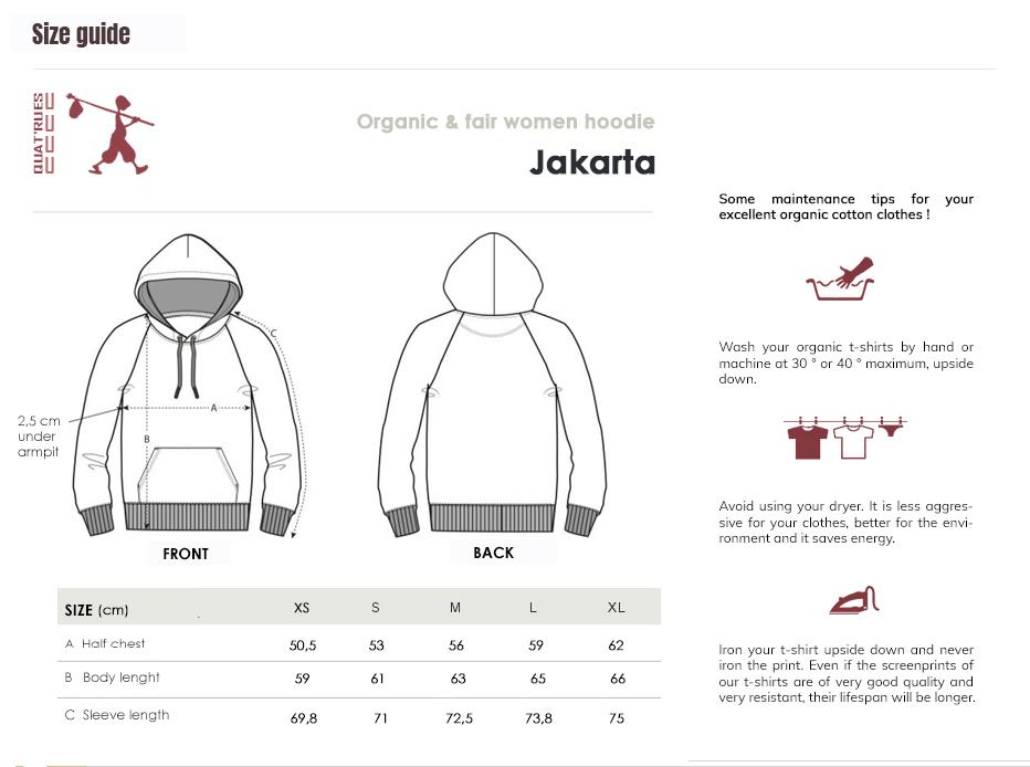 Size guide Jakarta