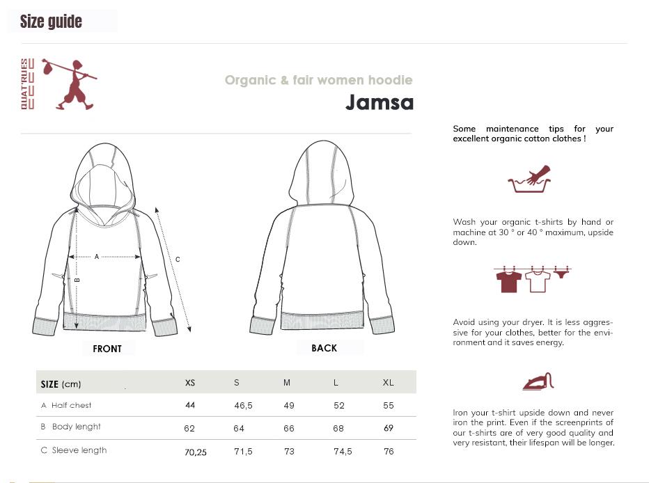 Size guide Jamsa