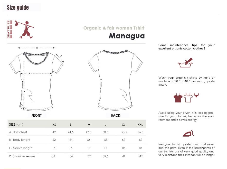 Size guide Managua