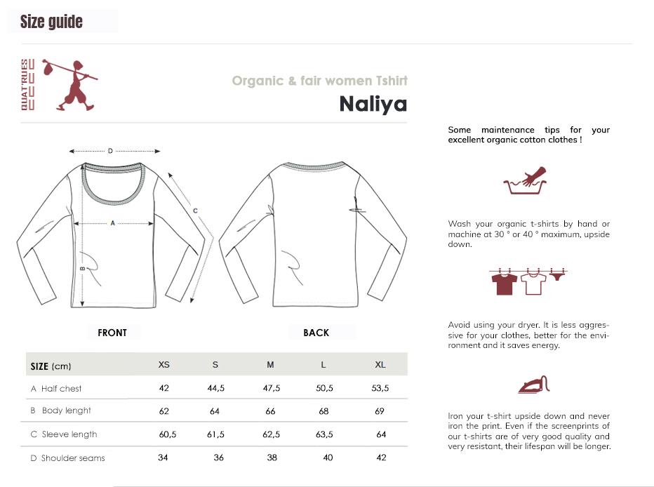 Size guide Naliya