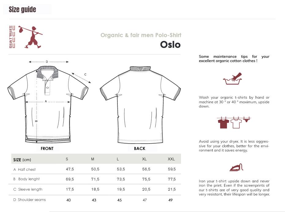 Size guide Oslo