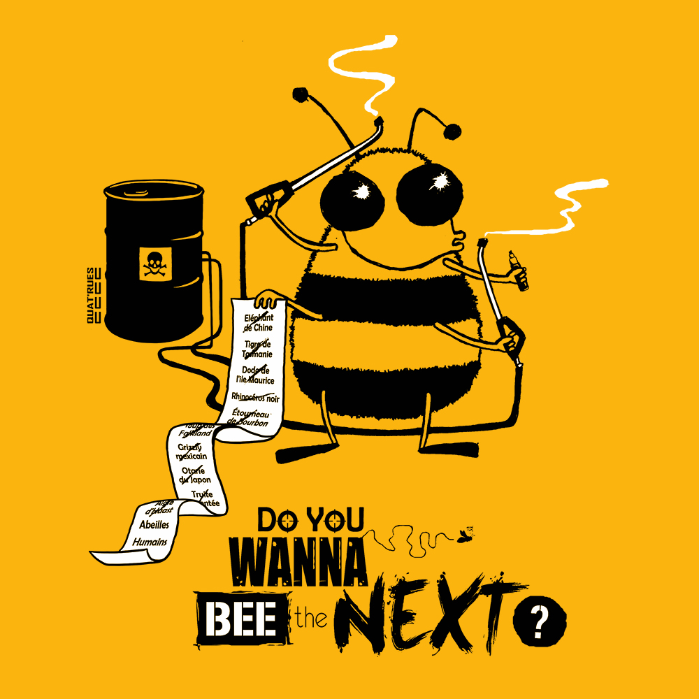 Visuel Do you wanna bee sur t-shirt bio