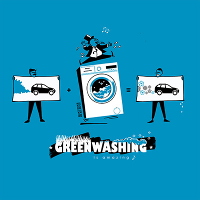Visuel Greenwashing sur t-shirt bio
