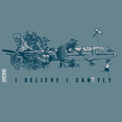Visuel I believe I can't fly sur t-shirt bio
