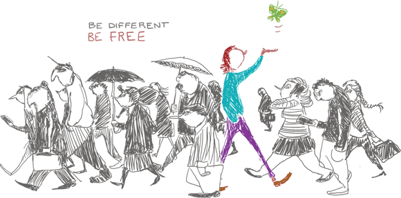 Be free be different